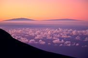 Landscapes Gallery - photo of Hawaii's Mauna Kea and Mauna Loa as seen from Maui