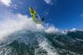 Pole-mount Foto: Windsurfing Action von Florian Jung in Maui/ Hawaii (Foto: Thorsten Indra)